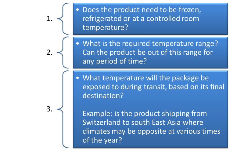 Active versus passive cold chain shipping solutions. The temperature checklist. By NV Logistics Switzerland Geneva