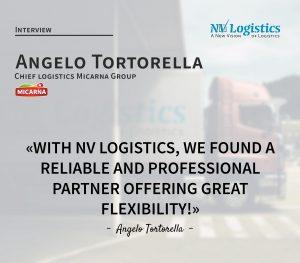 Angello Tortorella, chief logistics MICARNA GROUP